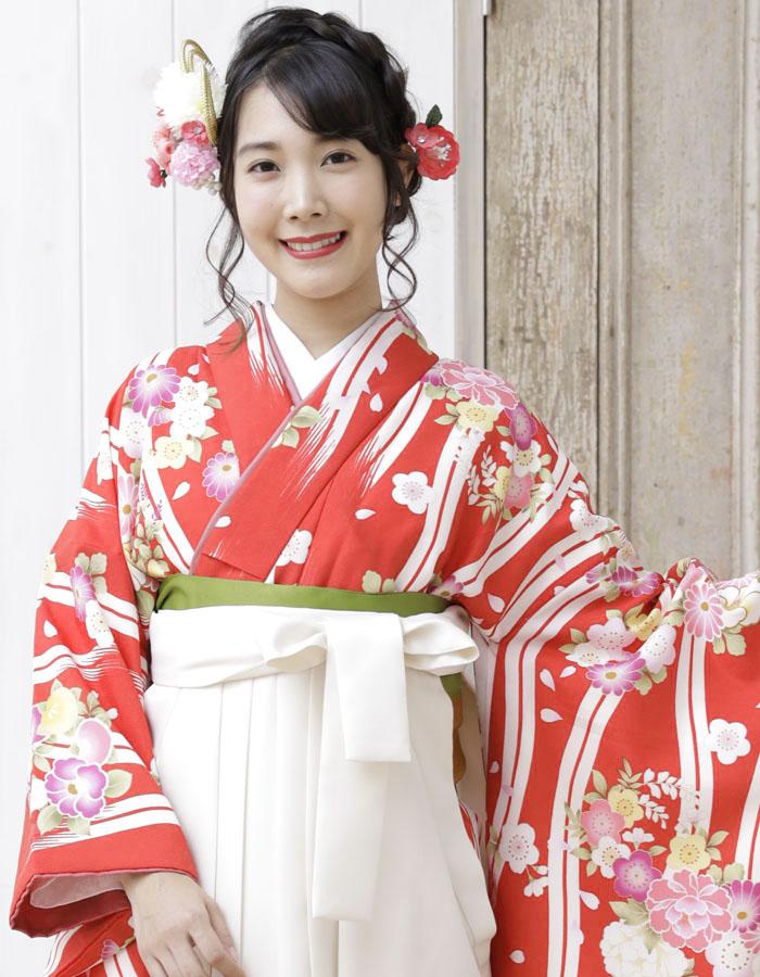 卒業式 袴 袴セット 女 二尺袖着物 ミサヤマ ブランド 袴7点セット 8 大学生 短大生 小学生販売 購入