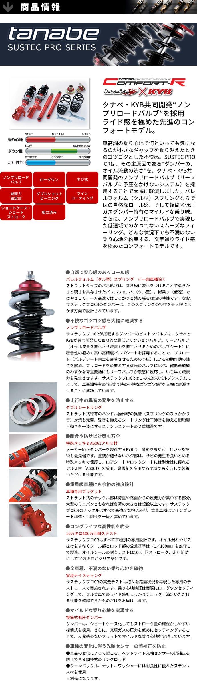 tanabe(タナベ)車高調SUSTECPROCRKITサステックプロマツダAZ−ワゴンMJ21SK6A03/10~04/11