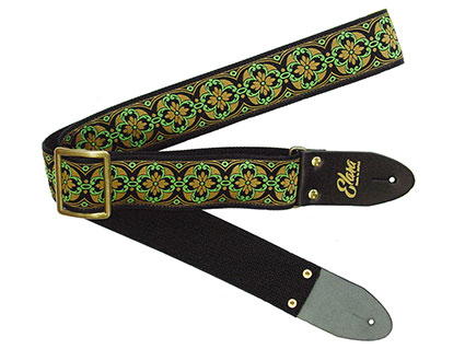 ギターストラップ Elara Straps Sacred Lotus Green/Gold [送料無料!]【smtb-TK】