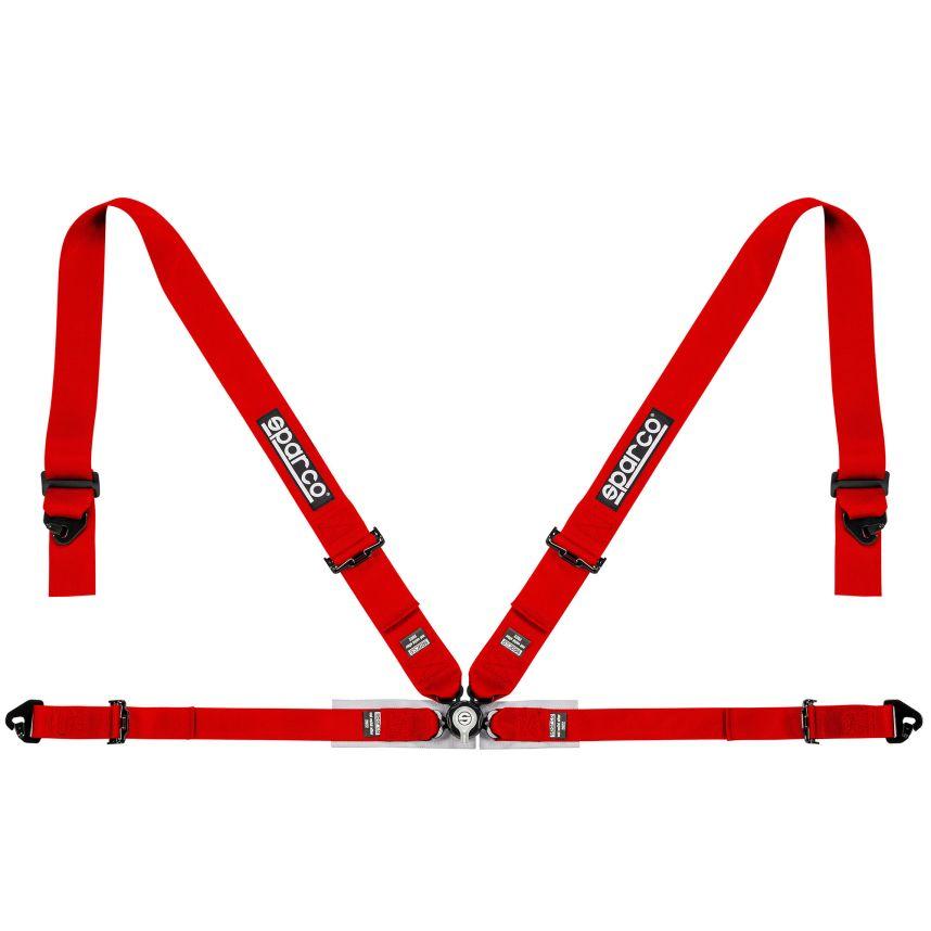 ☆【Sparco】4ポイントクラブレーサーハーネス 赤 スパルコ