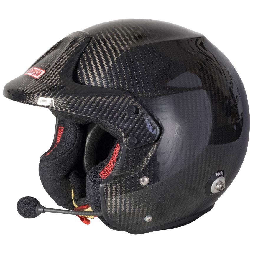 ☆【Simpson】ラリープロカーボンヘルメット インカム Simpson サイズ M(57cm)