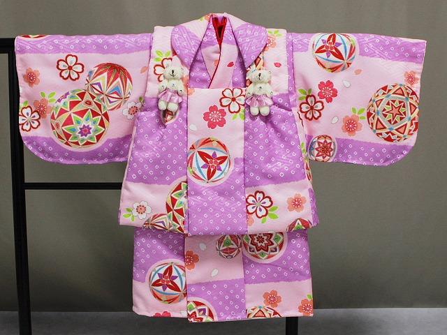 日本製 手縫いの一ツ身 ベビー用着物と被布コート 当店オリジナル着物と被布 B0001-07