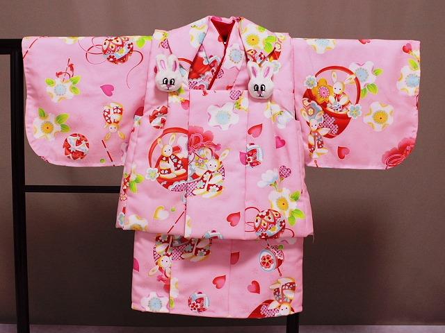 日本製 手縫いの一ツ身 ベビー用着物と被布コート 当店オリジナル着物と被布 B0001-12