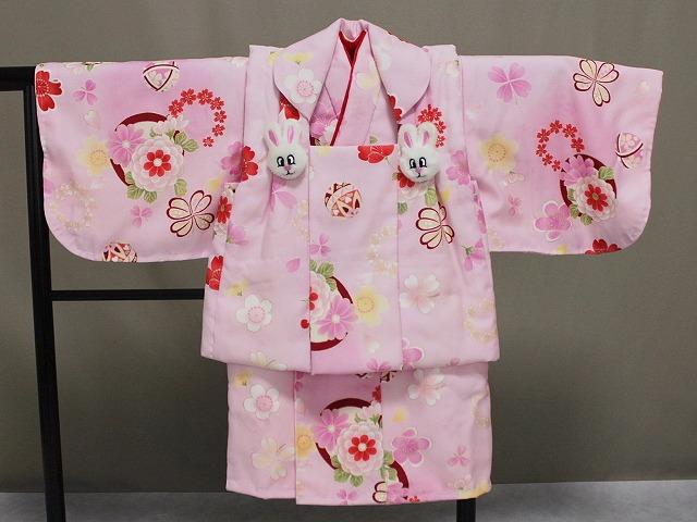 日本製 手縫いの一ツ身 ベビー用着物と被布コート 当店オリジナル着物と被布 B0001-13