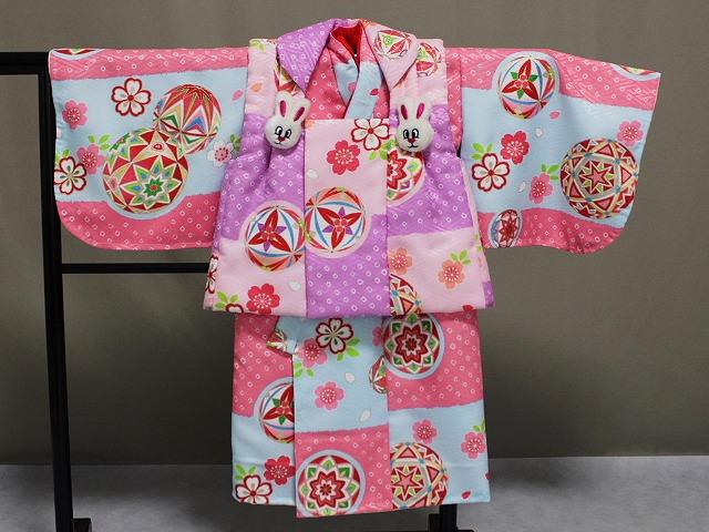 日本製 手縫いの一ツ身 ベビー用着物と被布コート 当店オリジナル着物と被布 B0001-20