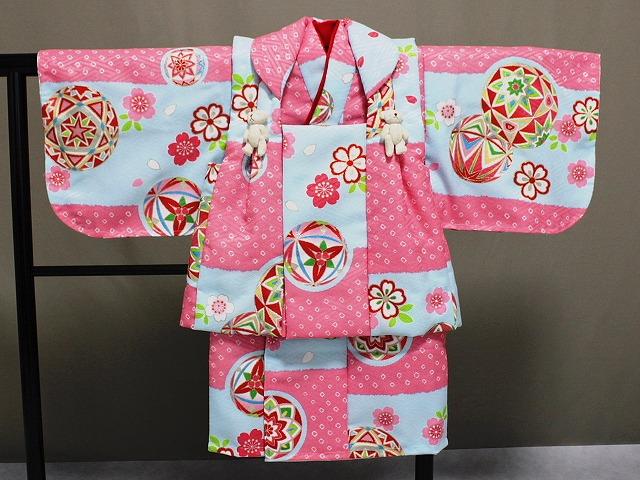 日本製 手縫いの一ツ身 ベビー用着物と被布コート 当店オリジナル着物と被布 B0001-21