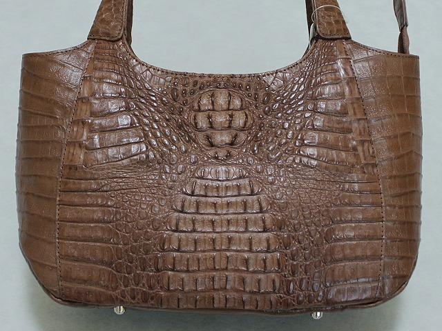 カイマンハンドバッグ 女性用 和洋兼用 ワニ革のハンドバッグ B0457-01