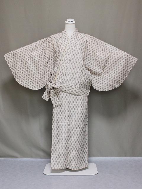 紗の二部式着物 夏のきもの 洗える紗の着物 夏用の二部式きもの 仕立上がり夏用二部式 Lサイズ 送料無料 C0563-11L