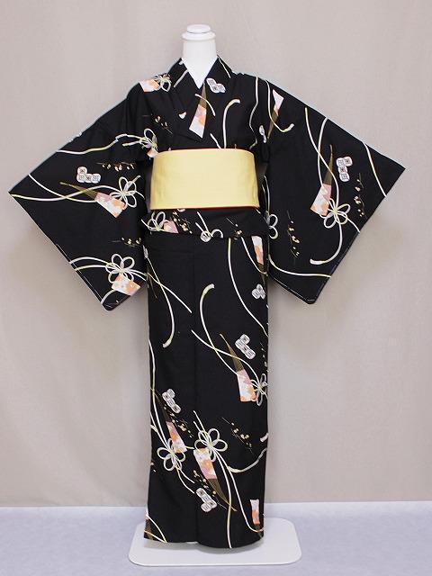 単衣のきもの リョウコ・キクチ ブランド単衣着物 洗えるひとえ着物 仕立上りきもの 洗える小紋 送料無料 Lサイズ C4194-32