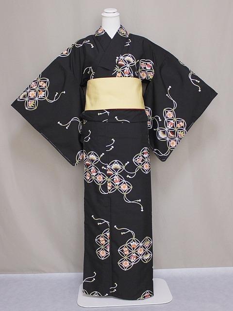 単衣のきもの リョウコ・キクチ ブランド単衣着物 洗えるひとえ着物 仕立上りきもの 洗える小紋 送料無料 Lサイズ C4194-39