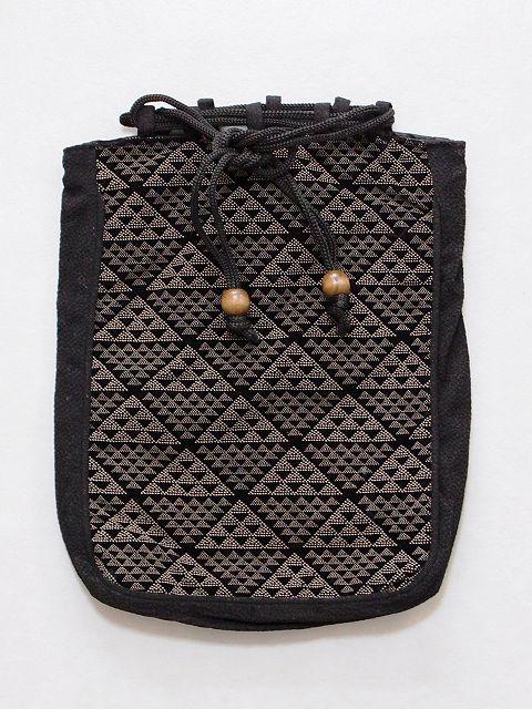 巾着 割引 男性用小物袋 巾着袋 お着物姿の必需品 男巾着 年間定番 C4889-06 男バッグ