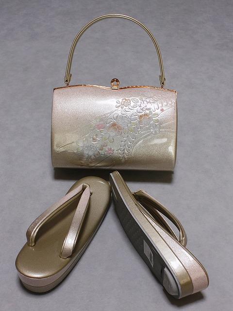 高級草履バッグセット 日本製 世美庵(セビアン)ブランド フリーサイズ草履 ちょっぴり大きいバッグ 送料無料 C8476-02