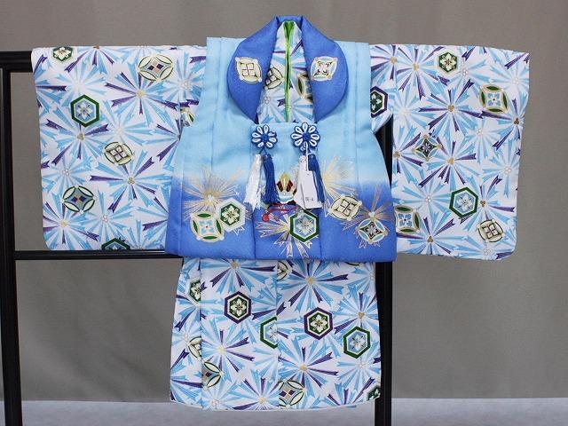 「花うさぎ」ブランド 男児・ベビー用被布セット ベビーの着物 二部式タイプ被布セット お祝い着 送料無料 C9136-01