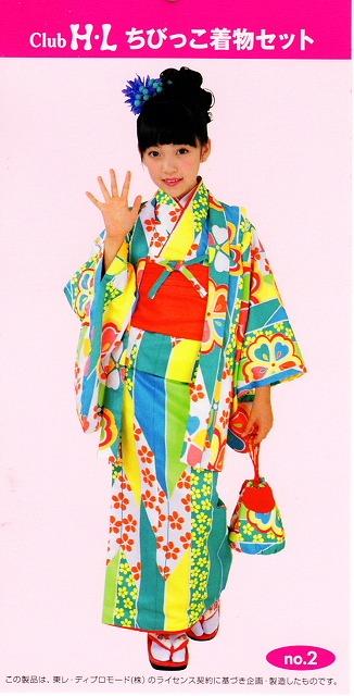100サイズ 女の子着物 6点セット 5~6才用 クラブ・HL ジュニア着物 洗える着物のセット 送料無料 D0771-2R