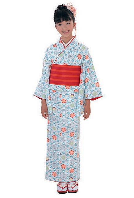 女児ジュニア着物 クラブH・Lのきもの セット着物 子ども着物 女の子 着付も簡単 140サイズ 送料無料 D0827-13-140