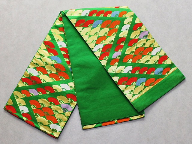 正絹七歳用袋帯 祝い帯 七才用女児の帯 日本製 お仕立て(かがり)無料 七五三用の帯 送料無料 D7032-04