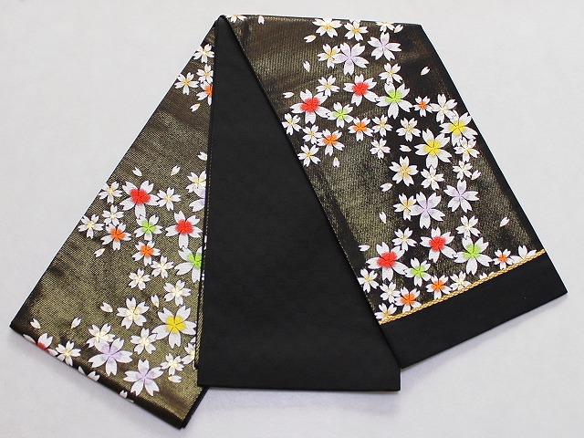 正絹七歳用袋帯 祝い帯 七才用女児の帯 日本製 お仕立て(かがり)無料 七五三用の帯 送料無料 D7032-10