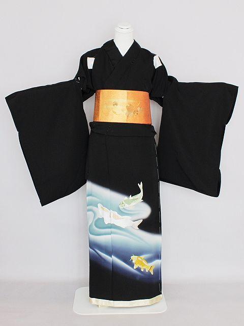 驚きの価格です 最高級品 蘇州刺繍の正絹江戸妻 黒留袖 未仕立品 J2100