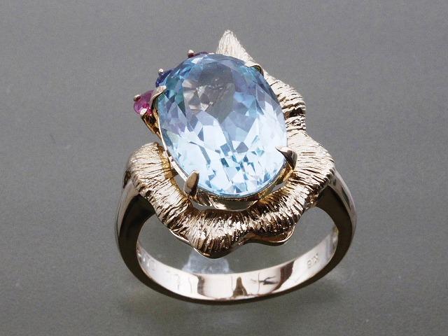 K18デザインリング ファッションリング 豪華なデザイン おしゃれな指輪 当店在庫セール 格安ゆびわ J3403