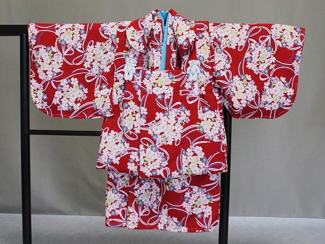 日本製 手縫いの一ツ身 ベビー用着物と被布コート 当店オリジナル着物と被布 Z0003-01