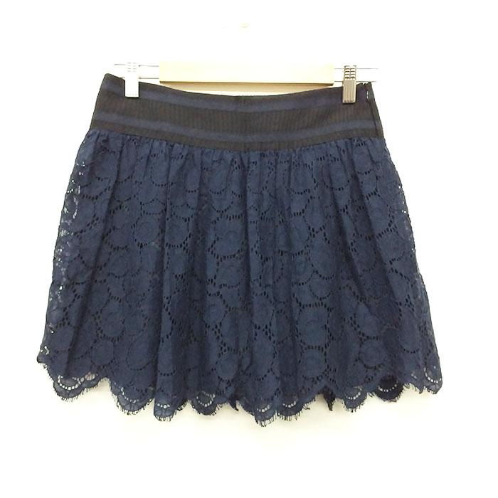 ミリー Milly デザインスカート ネイビー 中古 美品