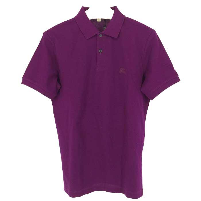 バーバリー ブリット Burberry Brit 半袖 ポロシャツ メンズ M パープル【中古】【新品同様】【美品】