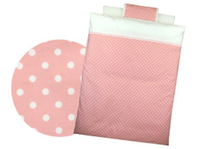 【新品】 Bebino 洗えるカバーリングミニ布団8点セット・水玉柄*ピンク【smtb-m】