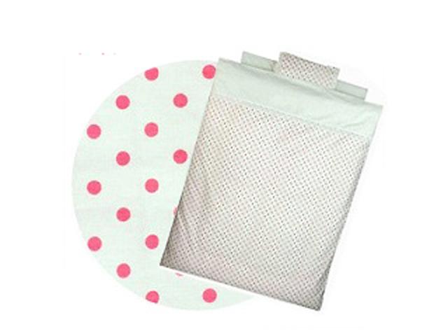 【新品】 Bebino 洗えるカバーリングミニ布団8点セット・ホワイト・ドット*ピンク【smtb-m】