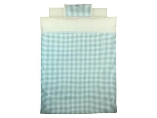 【新品】 Bebino 洗えるカバーリングミニ布団8点セット・ブルーチェック【smtb-m】