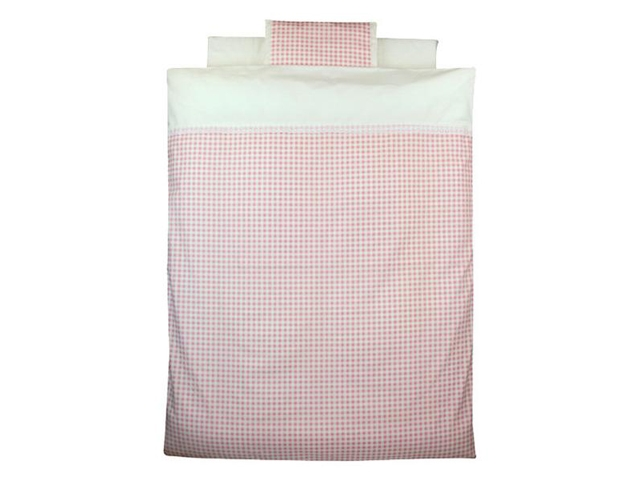 【新品】 Bebino 洗えるカバーリングミニ布団8点セット・ピンクチェック【smtb-m】