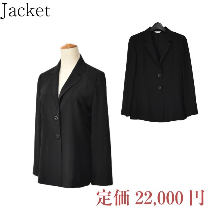 今だけスーパーセール限定 日本製生地 ブラックジャケット■531926VX■黒色 ブラック フォーマル■レディース 送料区分-大 M寸 テーラーカラージャケット 2つボタン L寸 キャンペーンもお見逃しなく フォーマルな席にも着用いただけます