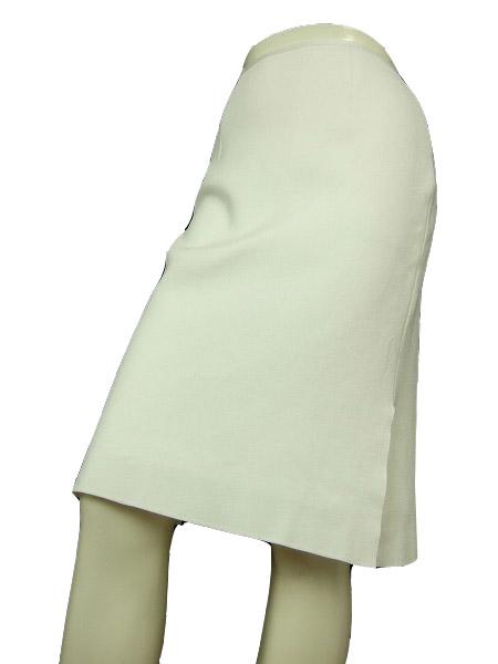 【中古】ハロッズ Harrods 純白 ホワイト×微艶 伸縮 令嬢スカート 小さいサイズ 7号 レディース ボトムス