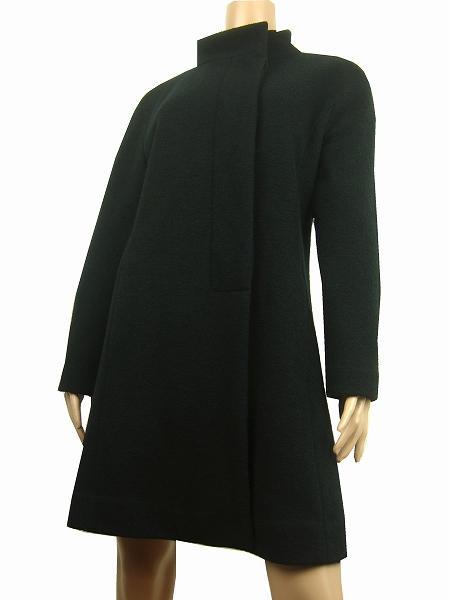 【中古】コルディア CORDIER 濃黒 比翼 ふっくら素材 大人スタイルコート 40号 レディース アウター