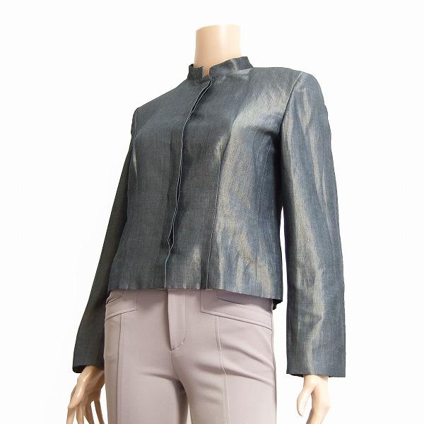 @ KRIZIA/クリッツィア * 伊 업체 * 그레이 * 반짝 * 린 넨 혼 얇은 재킷 11. 봄 여름가을/여성