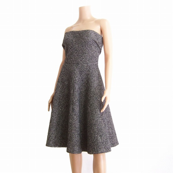 4871c51a9ccba DOLCE &GABBANA Dolce & Gabbana * made in Italy gray * lovely blossom dress  42 / 9 / 11 fall/winter / ladies ☆