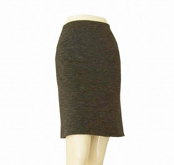 【中古】23区 グレー 霜降り 美形スカート 小さいサイズ 32号/3号 春夏秋 レディース ボトムス