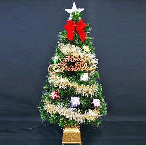クリスマスツリー 北欧 おしゃれ ファイバーツリーセット90cm GI オーナメント セット LED