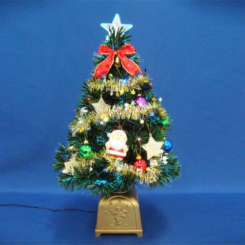 クリスマスツリー 北欧 おしゃれ 60cmグリーンファイバーツリーセット14 LED付き オーナメント セット LED
