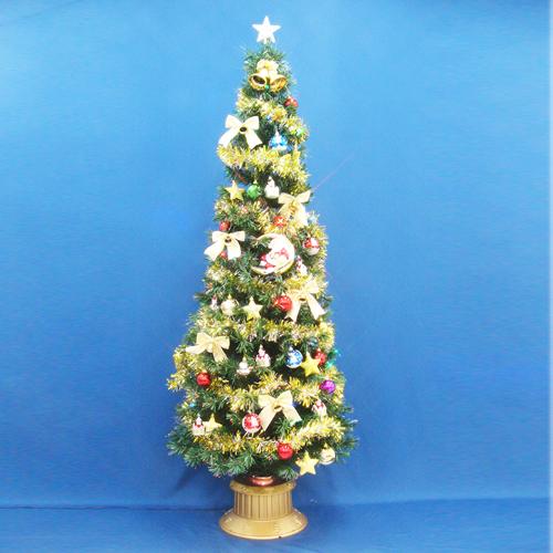 クリスマスツリー 北欧 おしゃれ 210cmファイバーツリーセット14 LED付き オーナメント セット LED 2m 3m 大型 業務用