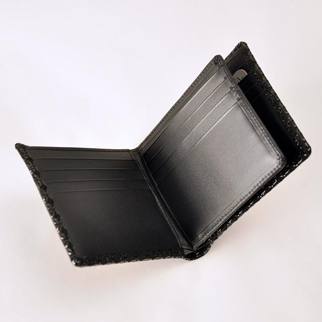 印伝 財布 二つ折り 印傳屋 輪繋ぎ 2009K1J3lcTF