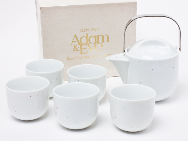 【送料無料】Adam & Eve たち吉 茶器揃え(急須1個+湯呑5客)adameve-02お茶のふじい・藤井茶舗