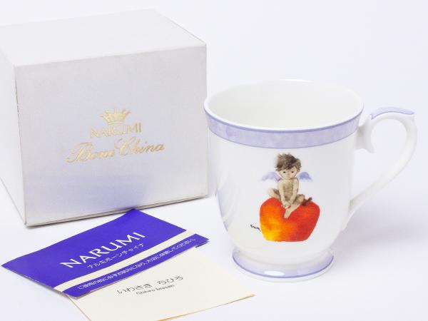 ナルミ いわさきちひろ りんごと天使 マグカップ narumi-04お茶のふじい・藤井茶舗