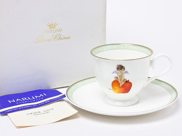 ナルミ いわさきちひろ りんごと天使 カップ&ソーサー narumi-09お茶のふじい・藤井茶舗