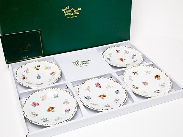 ライヒェンバッハ チューリンゲン 陶磁器 小皿5枚セット thuringian-08お茶のふじい・藤井茶舗