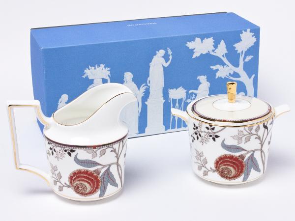 ウェッジウッド パシュミナ クリーマー&シュガーポット wedg-72お茶のふじい・藤井茶舗