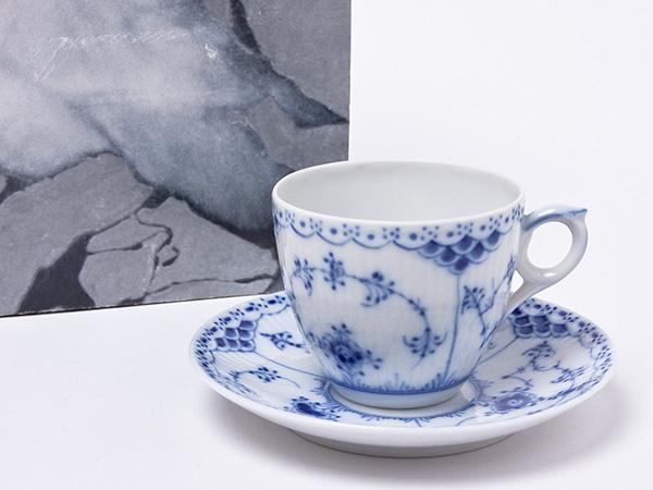 ロイヤルコペンハーゲン ハーフレース コーヒーカップ&ソーサー copen-61お茶のふじい・藤井茶舗