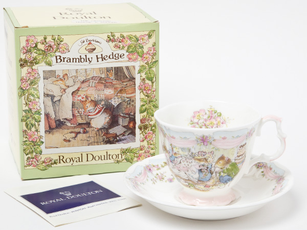 ロイヤルドルトン ブランベリーヘッジ ウェディングカップ&ソーサーお茶のふじい・藤井茶舗