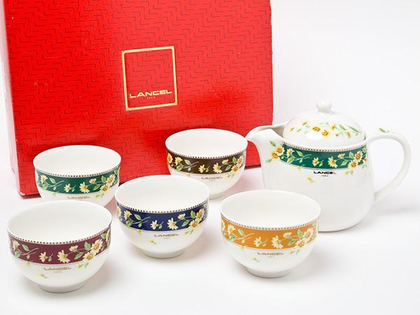 LANCELティーセット(ポット1個+カップ5客)お茶のふじい・藤井茶舗