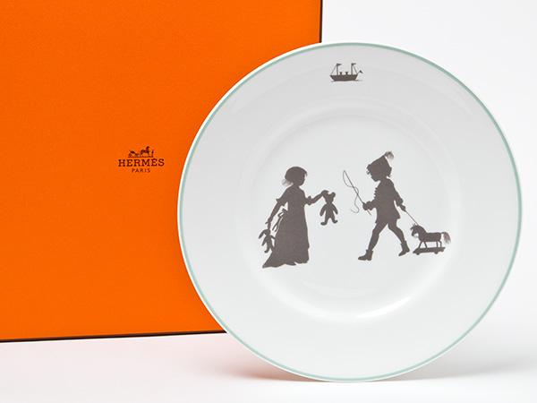 【送料無料】エルメス シルエットデザートプレートお茶のふじい・藤井茶舗