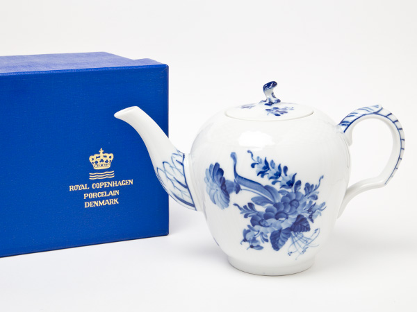 ロイヤルコペンハーゲンブルーフラワーティーポットお茶のふじい・藤井茶舗